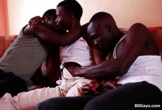 Black African Threesome Sucking