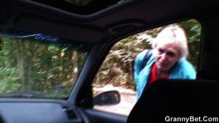 Old Bitch Gets Nailed In The Car By Stranger