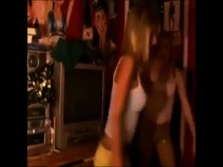 Blonde Teens Dancing