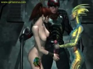 3d Fuck Fantasy In Outer Space Threesome