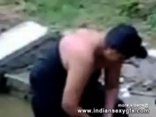 Indian Aunty Bathing In Outside Exposing Her Boobs With Hairy Pussy - Indiansexygfs.com