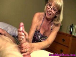 Cumshot Loving Grandma Gets Drenched