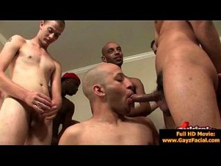 Bukkake Gay Boys - Nasty Bareback Facial Cumshot Parties 13