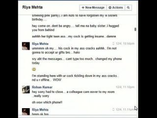 Indian Not Brother Rohan Fucks Sister Riya On Facebook Chat