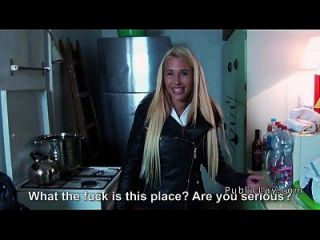 Czech Busty Blonde Flashing In Public