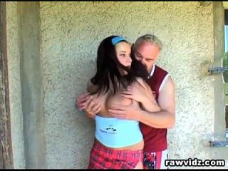 Grandpa Just Banged A Hot Busty Teen Outdoors