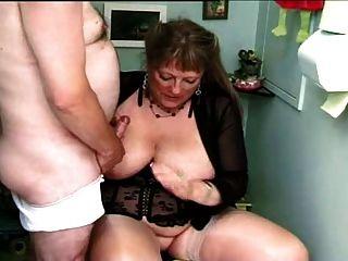 Fat Granny In Two Smoking Barrels