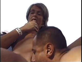 Blonde Old Lady Fucked Outdoors