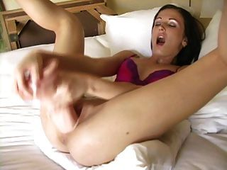 Hailey Cute Woman Large Toys Shows Her Cervix