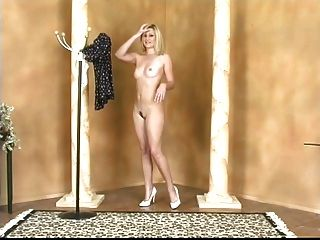 Blonde Takes Off Her Dress To Spread Her Pussy