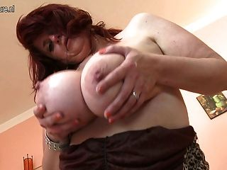 Big Titted Mother Gets Her Pussy Wet