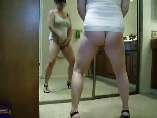 Chubby Wife Standing And Cumming