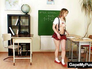 Teen School Girl Ema Pussy Gape By Old Teacher
