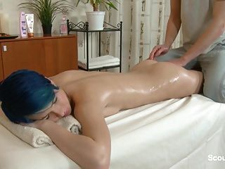 Step-sister Seduce To Fuck By German Step-bro After Massage
