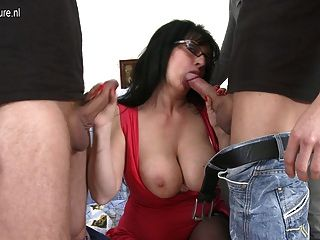 Hot Old Mom Fucked By Not Her Son Son And Son