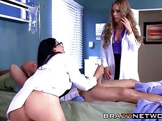 Four Sluts Working Out Johnny Sins Dick