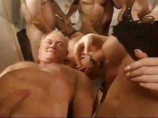 Three Sluts Get Fucked And Cummed On By Multiple Guys