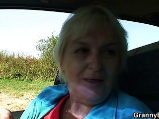 Old Granny Getting Nailed In The Car