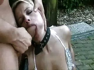 Fucking A Hot Milf Sub Slut Outside