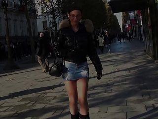 Julieskyhigh In  Paris Hot Babe In Public High Heels Boots