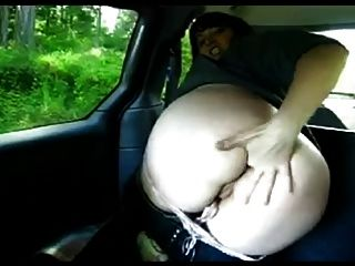 Fisting Anal Solo In Car