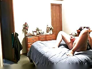 Mature Woman Catched Masturbating On Bed