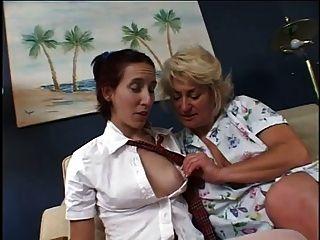 Maggie Seduces Dana Into Lesbian Romp