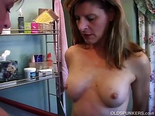 Slim Old Spunker Loves To Suck Cock And Eat Cum