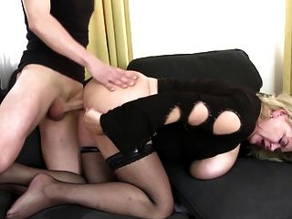 Mom With Big Tits And Ass Takes Young Cock
