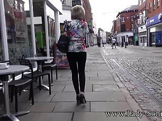 Uk Milf Sonia Shows Her Tits In Public And Sucks Dick