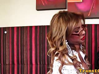 Bigtitted Trans Babe Pounded Tranny In Duo