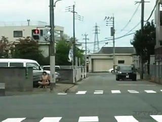 Bold Japanese Woman Flashing & Fucking In Public