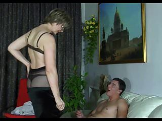Mature In Stockings Wait For Ass Creampie