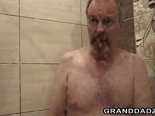 Petite Teen Ladybug Fucks A Senior Man After Shower
