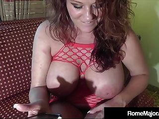 Redheaded Kate Faucett Wrecked By Big Black Cock Rome Major!
